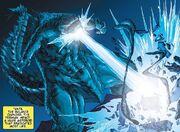 Godzilla blasts the Shinomura