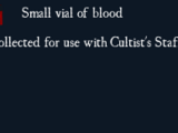 Small vial of blood