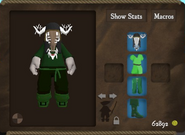 Poacher set strange mask