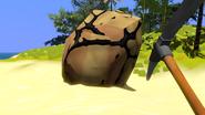 Un-minealble boulder