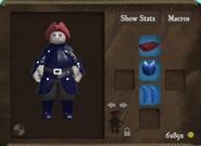 Cobalt set fancy hat