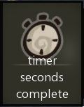 Timer seconds complete