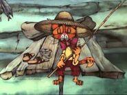 Лео рыбачит