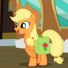 Applejack happy