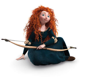 Merida sitting down