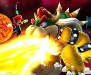 Mario jumps bowser flame lg