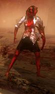 Infected female skinny