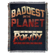 Ronda Rousey Baddest on the Planet Throw Blanket