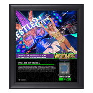 Charlotte WrestleMania 34 15 x 17 Framed Plaque w Ring Canvas