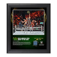 Dean Ambrose Money In The Bank Ladder Match 2016 15 x 17 Framed Photo w Ring Canvas