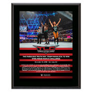 Fabulous Truth TLC 2018 10 x 13 Commemorative Plaque