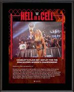 Charlotte Flair Hell in a Cell 2019 15 x 17 Framed Plaque w Ring Canvas