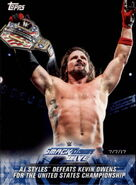 2018 WWE Road to Wrestlemania Trading Cards (Topps) AJ Styles 93