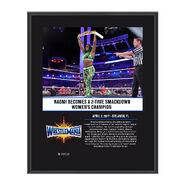Naomi WrestleMania 33 10 X 13 Commemorative Photo Plaque