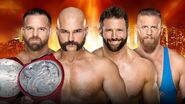 WM 35 Raw Tag Team Title Match