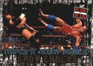 2001 WWF RAW Is War (Fleer) Triple H vs. Kurt Angle 92