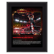 Roman Reigns WrestleMania 35 10 x 13 Commemorative Plaque