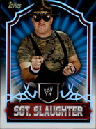 2011 Topps WWE Classic Wrestling Sgt. Slaughter 89