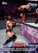 2018 WWE Road to Wrestlemania Trading Cards (Topps) Akira Tozawa 55