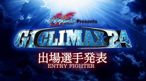 G1 CLIMAX 24 ENTRY FIGHTER