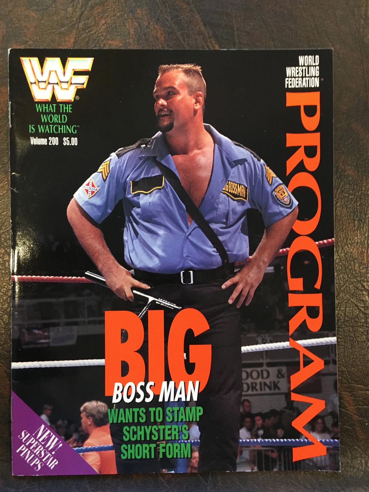 WWF Wrestling Program Volume 200 Pro Wrestling