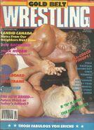 Gold Belt Wrestling - November 1987