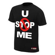 John Cena U Can't Stop Me Black Authentic T-Shirt