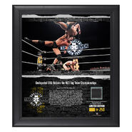 Undisputed Era NXT TakeOver Brooklyn 2018 15 x 17 Framed Plaque w Ring Canvas