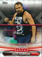 2019 WWE Raw Wrestling Cards (Topps) Dean Ambrose 24
