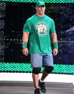 Cena green shirt