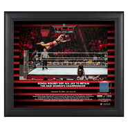 Ronda Rousey TLC 2018 15 x 17 Framed Plaque w Ring Canvas