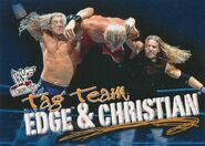 2001 WWF WrestleMania (Fleer) Edge & Christian 71