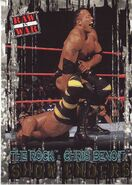 2001 WWF RAW Is War (Fleer) The Rock vs. Chris Benoit 100