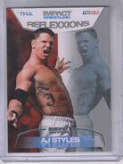 2012 TNA Impact Wrestling Reflexxions Trading Cards (Tristar) AJ Styles 7