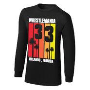 WrestleMania 33 Striped Long Sleeve T-Shirt