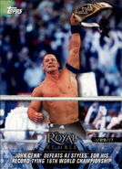 2018 WWE Road to Wrestlemania Trading Cards (Topps) John Cena 70