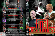 TNA Final Resolution DVD cover
