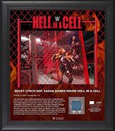 Becky Lynch Hell in a Cell 2019 15 x 17 Framed Plaque w Ring Canvas