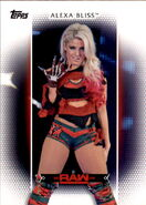 2017 WWE Women's Division (Topps) Alexa Bliss 13