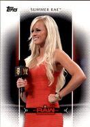 2017 WWE Women's Division (Topps) Summer Rae 25