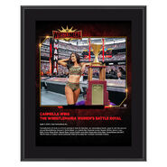 Carmella WrestleMania 35 10 x 13 Commemorative Plaque