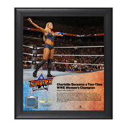 Charlotte SummerSlam 2016 15 x 17 Framed Plaque w Ring Canvas