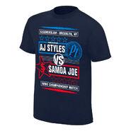SummerSlam 2018 AJ Styles vs Samoa Joe Match T-Shirt