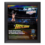 Randy Orton FastLane 2018 15 x 17 Framed Plaque w Ring Canvas