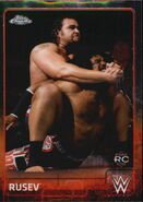 2015 Chrome WWE Wrestling Cards (Topps) Rusev 61
