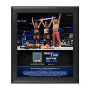 Riott Squad SmackDown Debut 15 x 17 Framed Plaque w Ring Canvas
