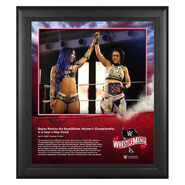 WrestleMania 36 Bayley 15 x 17 Limited Edition Plaque