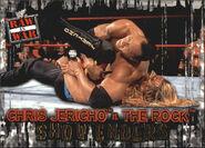 2001 WWF RAW Is War (Fleer) Chris Jericho vs. The Rock 89