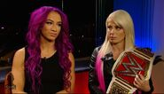 Sasha Banks and Alexa Bliss (WWE Straight To The Source) 10