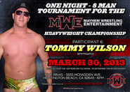 Tommy Wilson - Mayhem Wrestling Entertainment